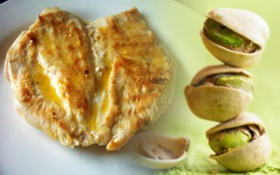 Filete de pechuga,receta de pollo con pistachos
