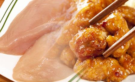 Receta con pollo y naranja