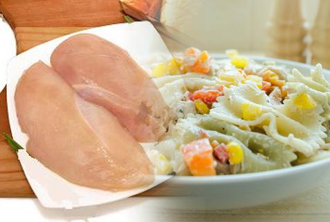 Ensalada  pasta con pollo
