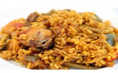 Receta paella con pollo