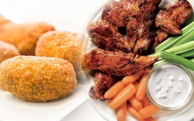 Entrantes caseros con pollo