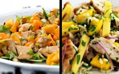 Ensalada de pollo y mango